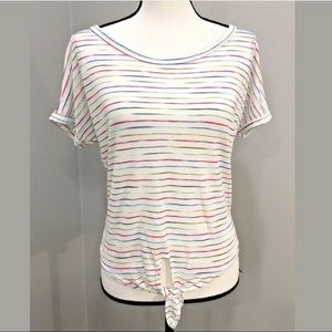 Caution to the Wind Juniors Top Small White Stripe